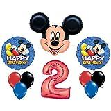 Mickey Mouse #2 2nd Second Happy Birthday Balloon Party Set Mylar Latex Disney