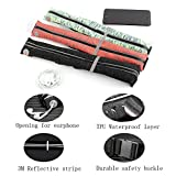 Limiwlw Running Belt Waterproof Workout Pocket Waist Bag Reflective Fanny and Waist Pack with 2 Large Security Pockets and Zipper, Phone Holder Waistband Fits Phones Passport for Man and Women