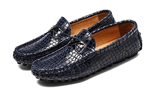 Tda Heren-instapper Voor Comfort Comfort Synthetische Penny Loafers Mocassins Schoenen Blauw
