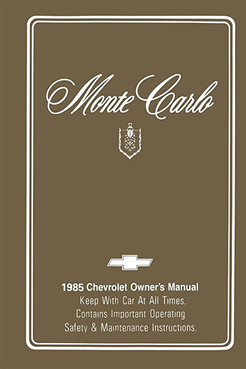 amazon com bishko automotive literature 1985 chevrolet monte carlo rh amazon com 1989 Monte Carlo 1989 Monte Carlo