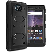 ZTE Majesty Pro Plus Case, ZTE Majesty Pro Hard Case, ZTE Tempo Case, CoverON Tank Series Full Body Front and Back Heavy Duty Hard Protective Phone Cover - Black