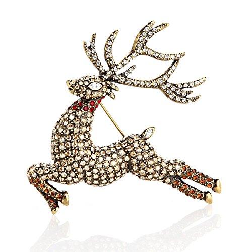 Heidi Daus Glitzen Reindeer Pin SOLDOUT EXQUISTE ONE OF A KIND SWAROVSKI CRYSTAL!!! by Heidi Daus