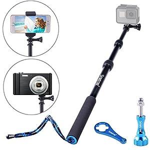 Smatree SmaPole S1 All-aluminum Alloy Handheld Telescopic Pole for GoPro Hero 5/4/3+/3/2/1/Session (15.8″to 40.5″)