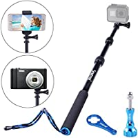 Smatree SmaPole S1 All-aluminum Alloy Handheld Telescopic Pole for GoPro Hero 5/4/3+/3/2/1/Session (15.8″to 40.5″)