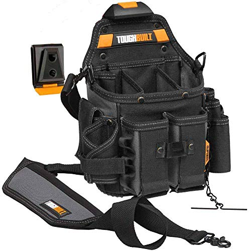 (ToughBuilt - Journeyman Electrician ClipTechPouch + Hub with Shoulder Strap (21 Pockets/Loops))