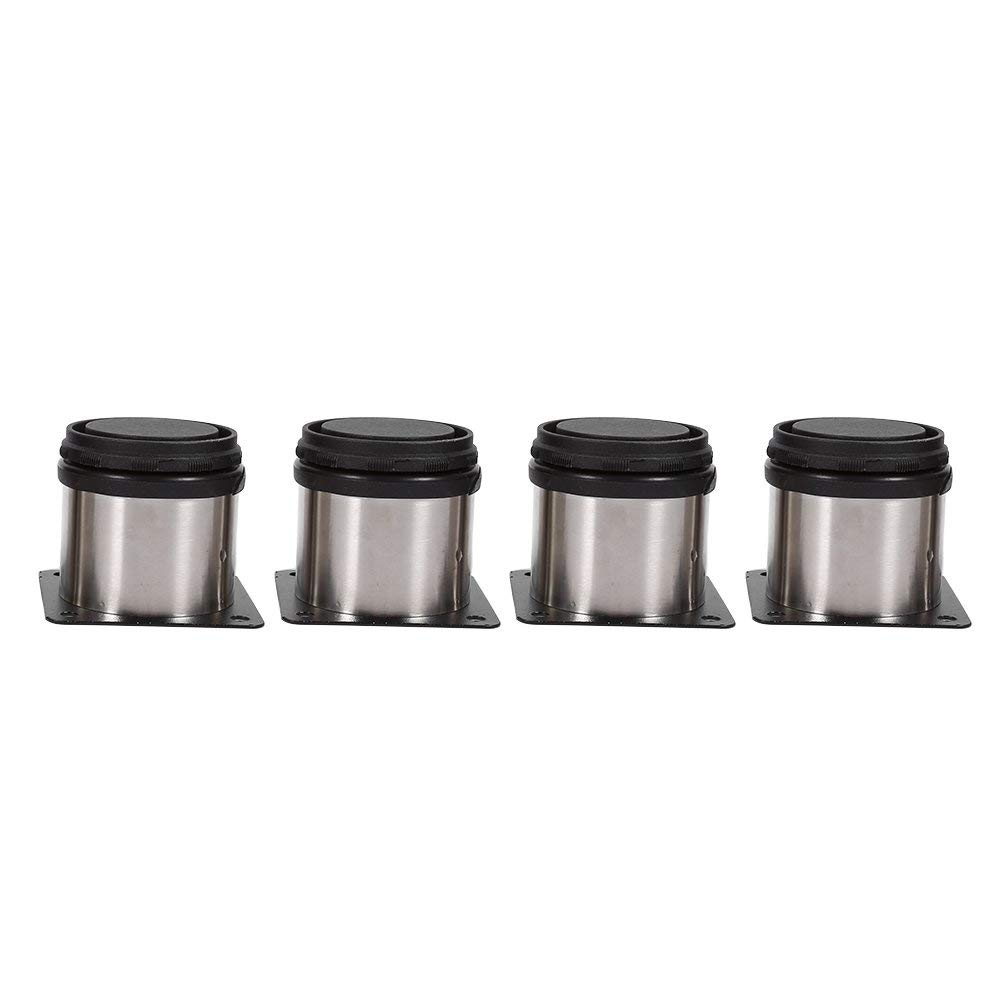soporte redondo muebles goma 4 patas regulables de sof/á patas de gabinete de acero inoxidable para sill/ón 6 x 6 cm