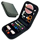Portable Sewing Kit Case Travel Home Needle Thread Tape Scissor Button Handcraft by sewing