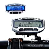 Hindom Bike Computer, Waterproof Multifunction Cycling Bike Bicycle Speedometer Odometer with Digital LCD Backlight
