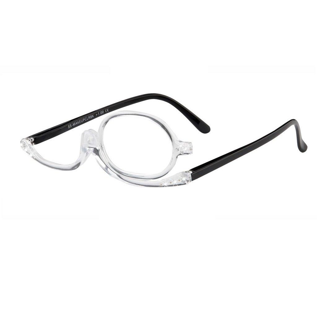 I Heart Eyewear Clear & Black Makeup Application Reading Glasses, +3.5