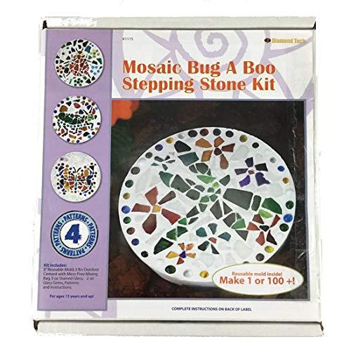 Diamond Tech Create N Learn Mosaic Stepping Stone Kit, - Kit Stone Mosaic