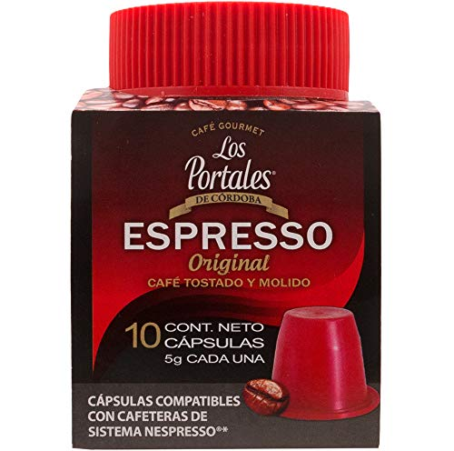 Los Portales de Cordoba Capsulas Café Gourmet ESPRESSO Original, 10 cápsulas