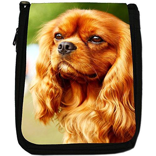 Bag King Medium Beautiful Brown Dog Size Charles Black Cavalier Canvas Spaniel Shoulder d4I8q8w