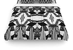 """Kess InHouse Vasare Nar """"Tessellation"""" 88 by 88-Inch Woven Duvet Cover, Queen"""