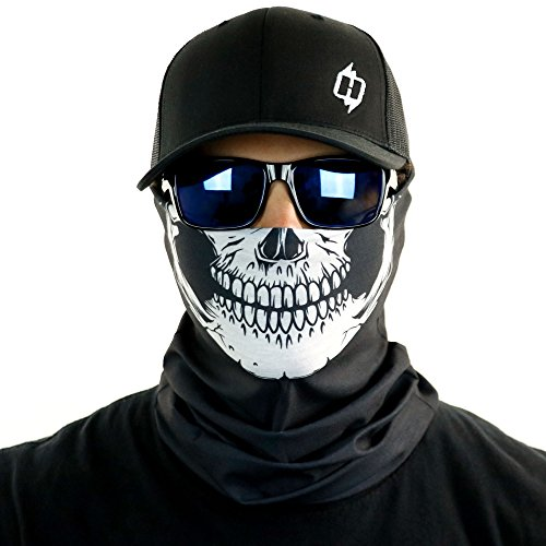Skull Tubular Bandana With Skeleton Design Works In