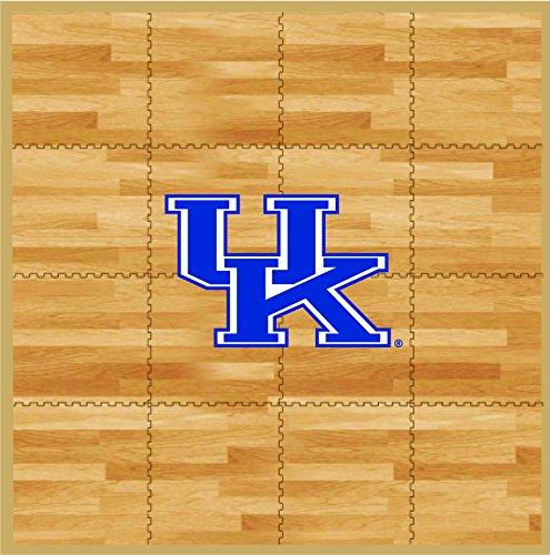 Coopersburg NCAA Kentucky Wildcats Fan Floor, 8' x 8', Tan (Kentucky Wildcats Rug)