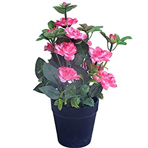 1PC Mini Artificial Flower Fake Rose Silk Flowers Potting bonsai for Wedding Home Party Decorative 69