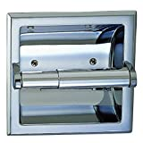 Designer Bathrooms Designers Impressions Polished Chrome Recessed Toilet / Tissue Paper Holder All Metal Contruction - Mounting Bracket Included