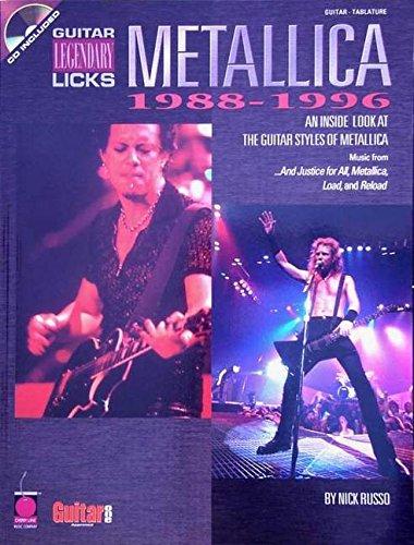 Download Metallica - Legendary Licks 1988-1996: An Inside Look at the Guitar Styles of Metallica (Legendary Licks Series) ebook