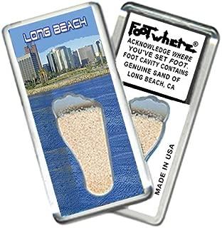 "product image for Long Beach""FootWhere"" Souvenir Fridge Magnet (LB205 - Skyline)"