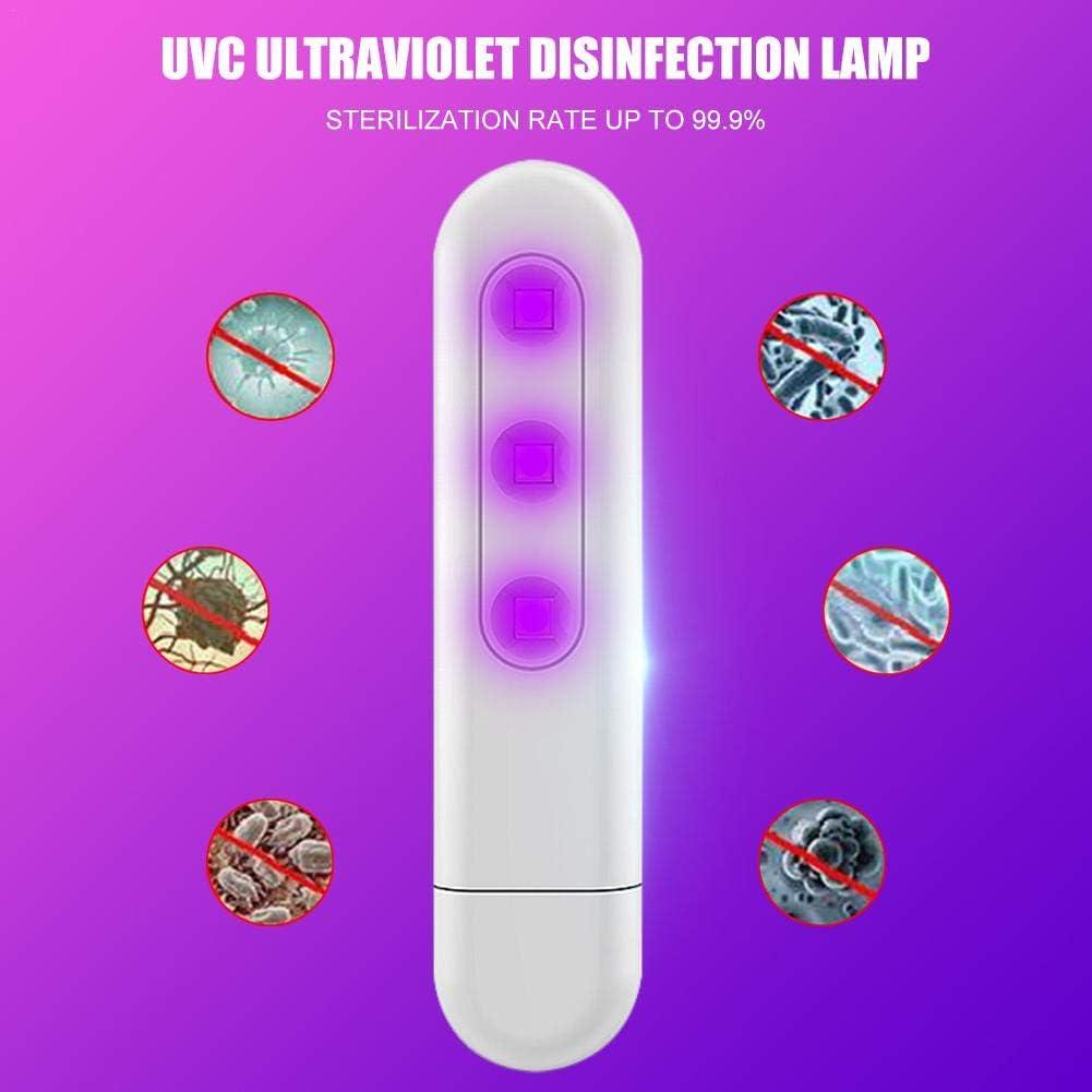 Esterilizaci/ón F/ísica Eficiente VERLOCO L/ámpara Germicida Ultravioleta USB UVC Port/átil para M/áscaras Utensilios De Cocina Cubiertos Cojines De Autom/óviles Teclados S/ábanas