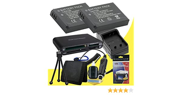 Deluxe Starter Kit for Canon Powershot A2200 A3200 IS A3000 IS Two NB8L Lithium Ion Replacement Batteries A3300 IS Digital Cameras Memory Card Reader//Wallet A3100 IS