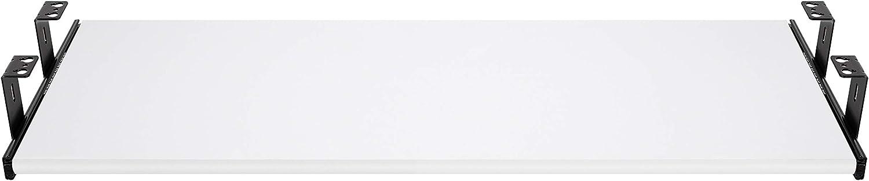 estraibili per tastiera mouse e laptop staffa per binario scorrevole nero 300mm FIX/&EASY Guide scorrevoli con ripiano 600X300mm texture dekoro bianco per porta-tastiera cassetto