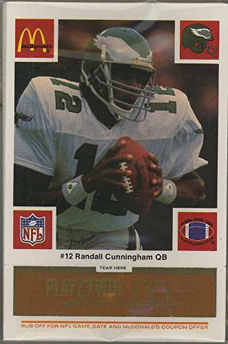 Philadelphia Eagles - 1986 McDonald's NFL Play & Win Football Cards - Gold Tab Team Set of 24 Cards - tabs still attached and unscratched (Nfl Football Win)