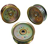 SET OF THREE Replacement OEM John Deere Flat Idler Pulley GY20629