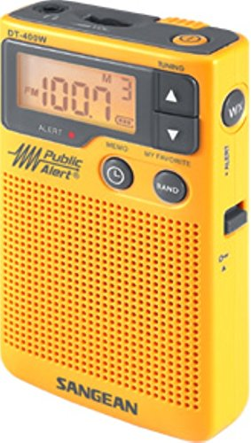 Sangean DT-400W AM/FM Digital Weather Alert Pocket Radio,...