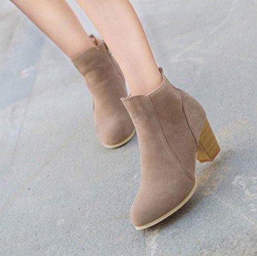KUKI autumn women boots side zipper women boots Martin boots flat casual boots cheap women boots , US7.5 / EU38 / UK5.5 / CN38
