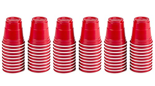 60pc Red Cup Mini Party Shot Glasses Set (2-Ounce) (Red Solo Shot Cups)