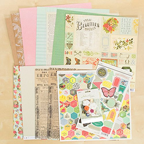(SEI Athenaeum Scrapbook 12 Inch by 12 Inch Paper Pack Stickers Sundries)