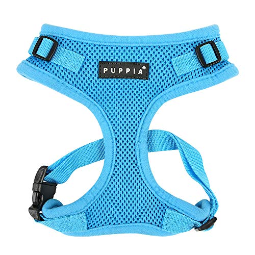 Authentic Puppia RiteFit Harness with Adjustable Neck, Sky Blue, Extra-Large