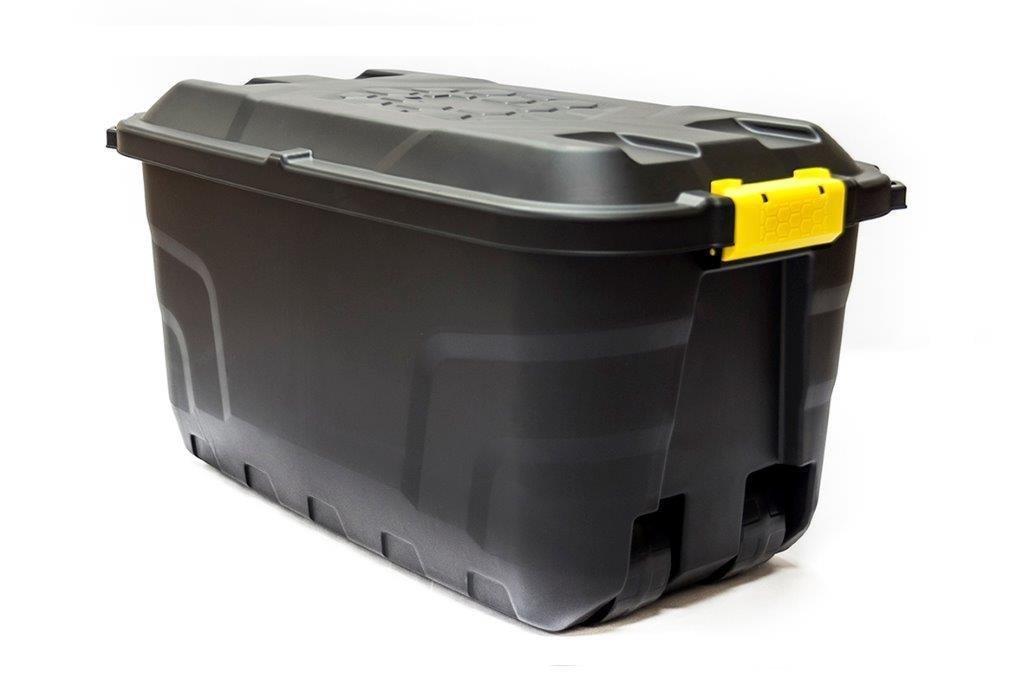 Strata Robuste Aufbewahrungsbox mit Rollen, 75l, 75 liters, Black, 77x42x40 cm 75l HW441