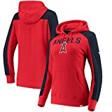 Fanatics Branded Los Angeles Angels Women's Iconic Pullover Hoodie - Red/Navy (Large)