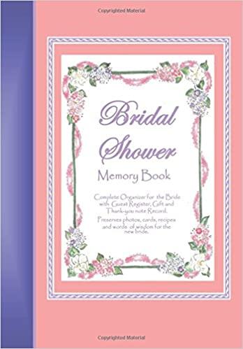 amazoncom bridal shower memory book a memory book for keeping bridal shower celebration memories guests gifts photos words of wisdom for the bride
