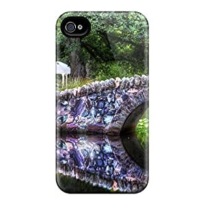 4/4s Scratch-proof Protection Case Cover For Iphone/ Hot Wonderful Stone Bridge In A Park Phone Case