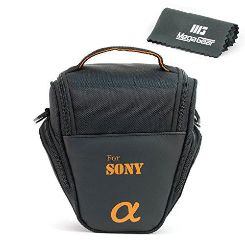 MegaGear ''Ultra Light'' Camera Case Bag for Sony DSC-RX10 III, Sony A3000, Sony SLT-A58K, Sony A65, Sony SLT-A77, Alpha DSLR, Sony Alpha a99 II, Sony Alpha a7II with 28-70 Lens Cameras (Camara Resistente Al Agua)