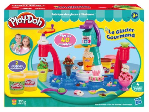 Play-Doh- Magic Swirl Ice Cream Shoppe Playset (Early Learning, Early Learning Toys)