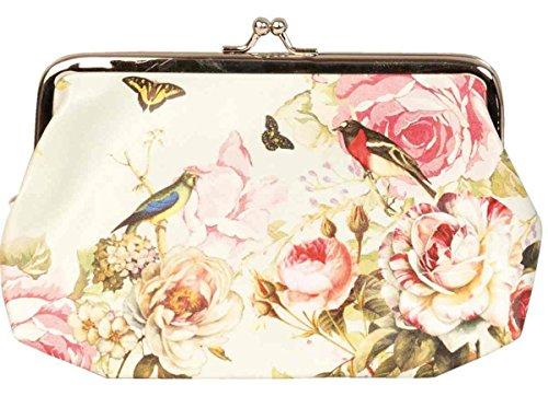 Clayre & Eef FAP0092–�?portafogli cosmetici Portamonete Portafoglio Custodia Portafoglio uccello farfalla circa 11x 18cm