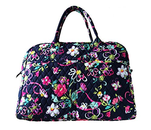 [Vera Bradley Weekender Tote in Ribbons with Solid Pink Interior] (Ribbon Tote)