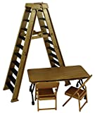 ULTIMATE LADDER & TABLE PLAYSET (GOLD) - RINGSIDE COLLECTIBLES EXCLUSIVE WWE TOY WRESTLING ACTION FIGURE ACCESSORY PACK
