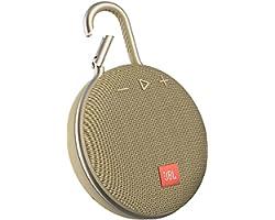 Caixa De Som Portátil Wireless Bluetooth Aprova d'água Jbl Clip 3 Dourado