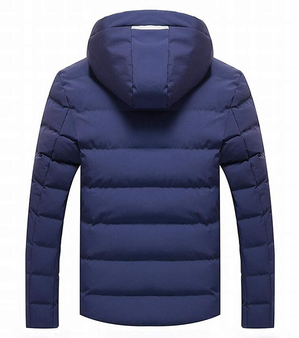 Nanquan Men Winter Snow Quilted Puffer Jacket Hooded Warm Thick Down Parka