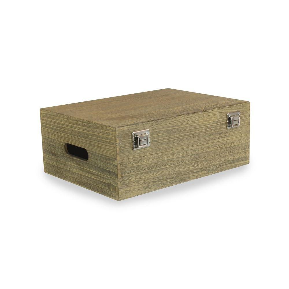 35cm Oak Effect Wooden Box