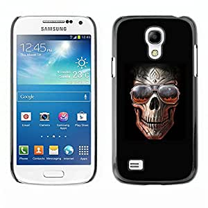 Ihec Tech Roca Cráneo Negro Sombras frío metal Infierno / Funda Case back Cover guard / for Samsung Galaxy S4 Mini i9190
