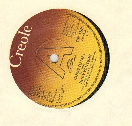 Ruby Winters - Come To Me - Demo Issue - 7 inch vinyl / - Near Warehouse Me