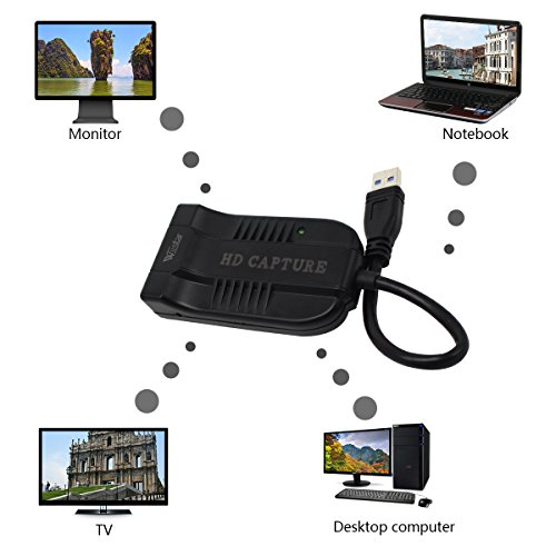 HDMI to USB3.0HD Video Capture Free Drive Support Streaming Media and Live Broadcast and Multiple Operating Systems (Windows, OS X, Linux) by Wiistar (Image #6)