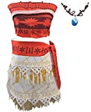 Ainiel Halloween Cosplay Costume Skirt Set with Necklace for Women Girls