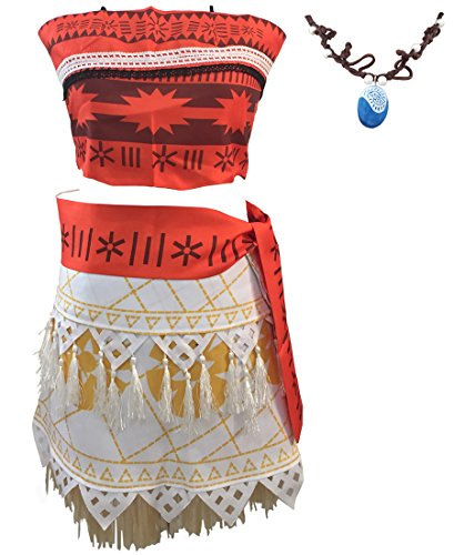 Ainiel Halloween Cosplay Costume Skirt Set with Necklace for Women Girls (M)